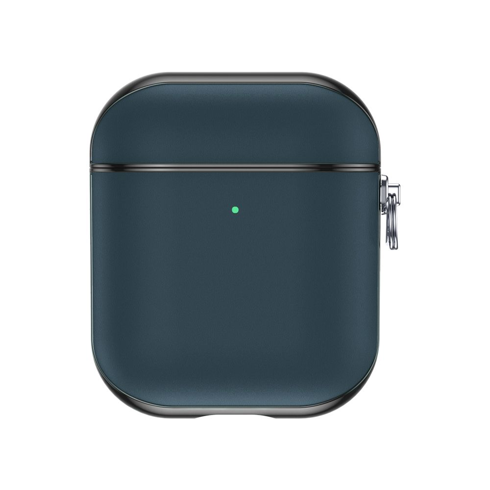 airpods case leather snap gen 12 blue