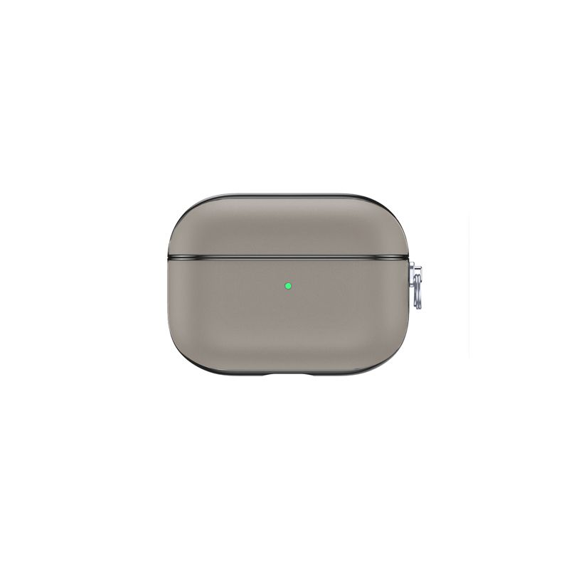 airpods case leather snap pro grey