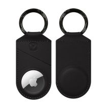 AirTag Case Snap Leather Black