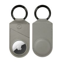 AirTag Case Snap Leather Grey
