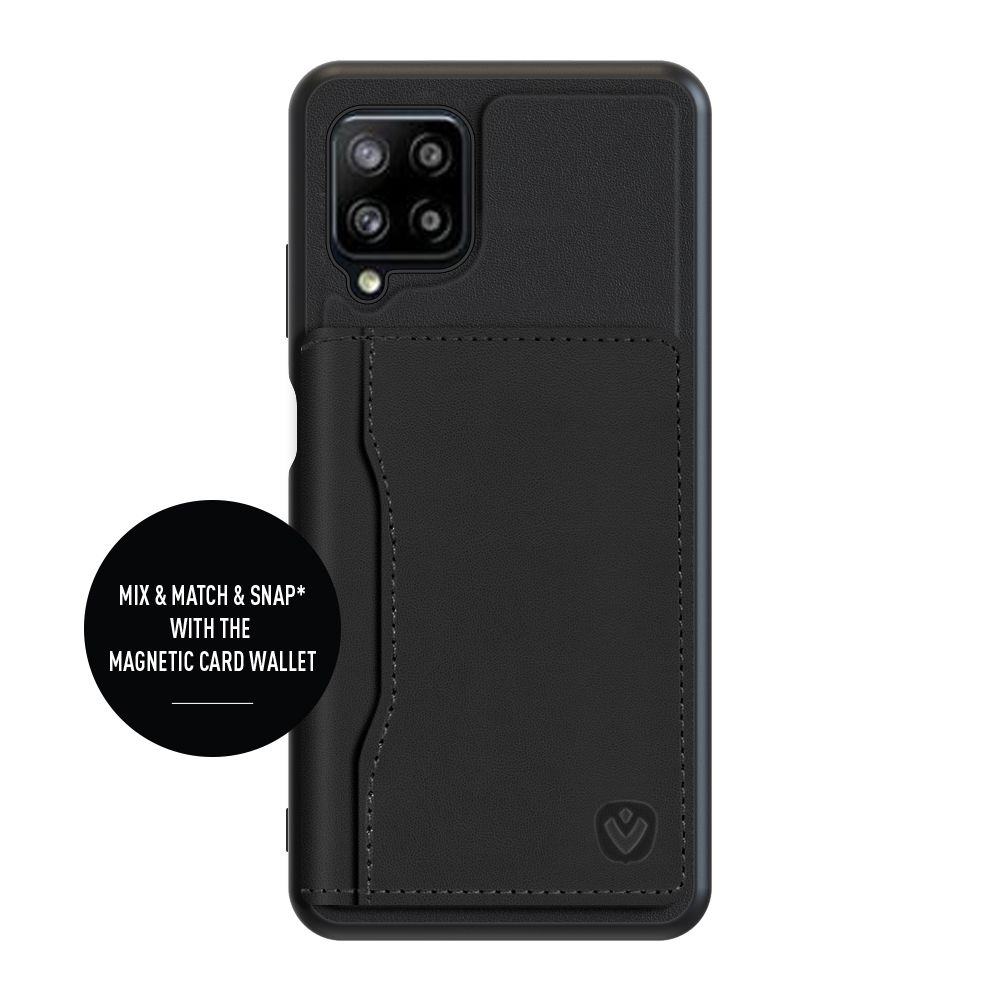 back cover snap leather black samsung galaxy a12