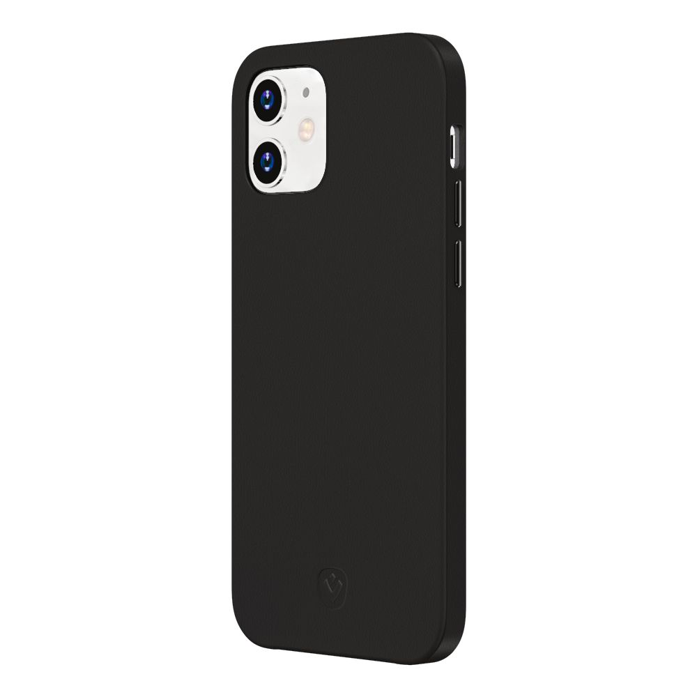 back cover snap luxe leather black apple iphone 12 mini