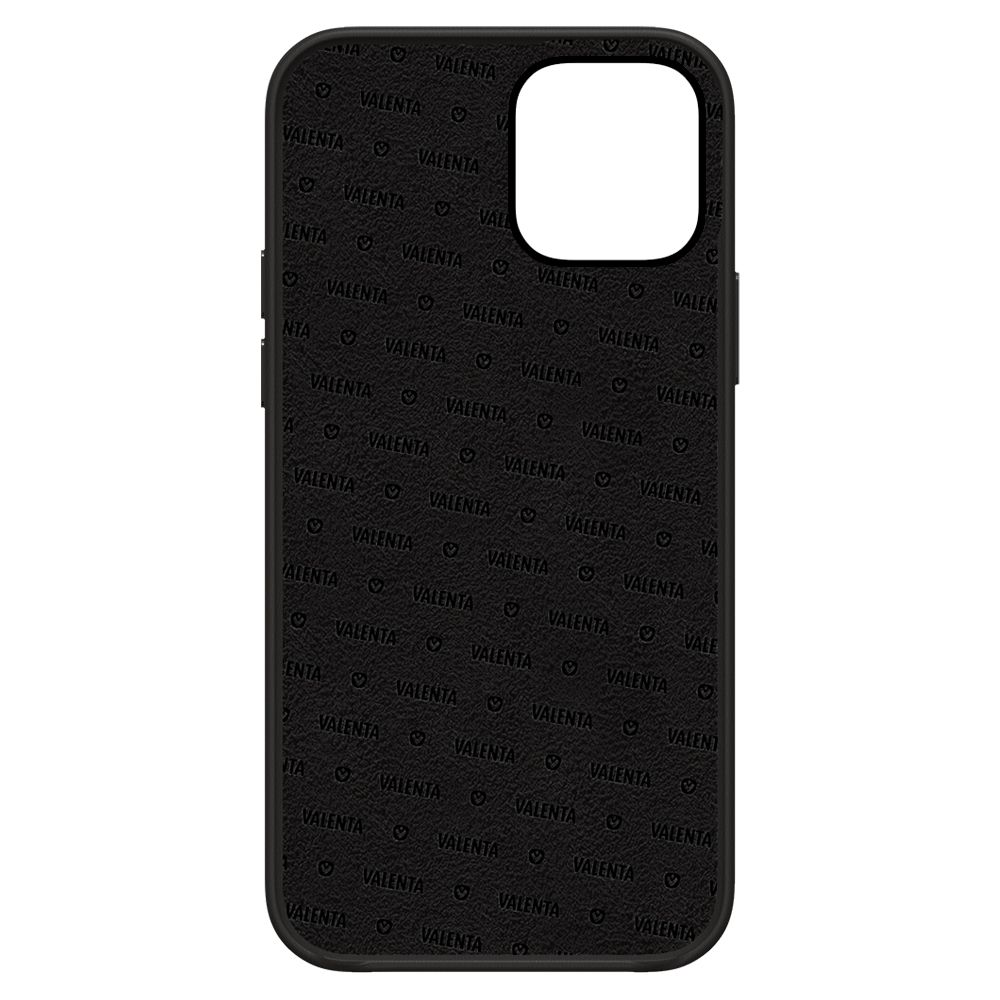 back cover snap luxe leather black apple iphone 13 mini