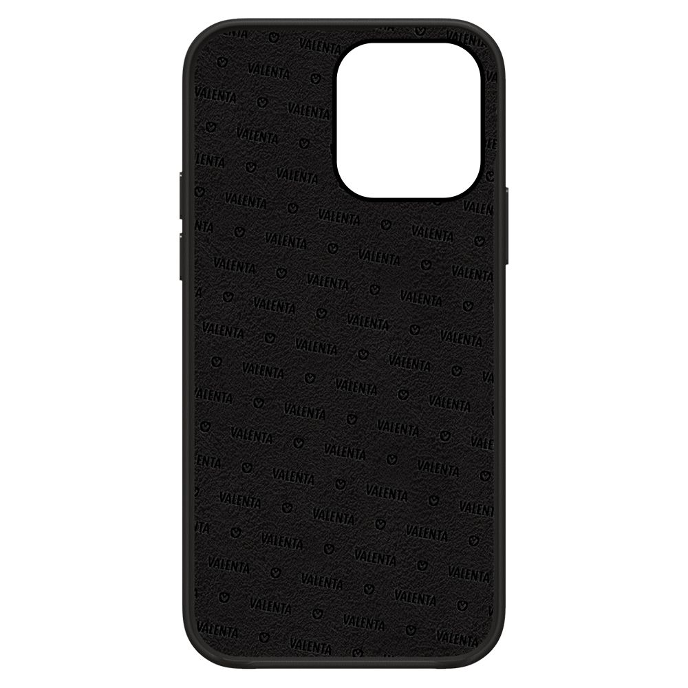 back cover snap luxe leather black apple iphone 13 pro