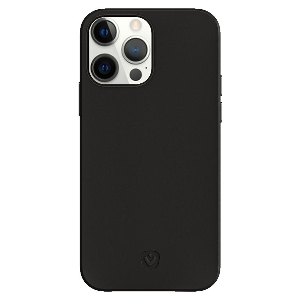 back cover snap luxe leather black apple iphone 13 pro max