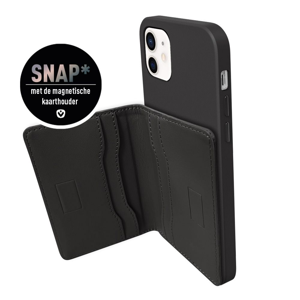 back cover snap luxe leather black apple iphone 11