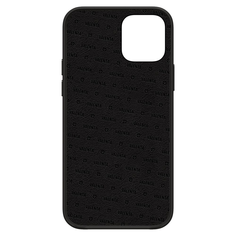 back cover snap luxe leather black iphone 12 pro max