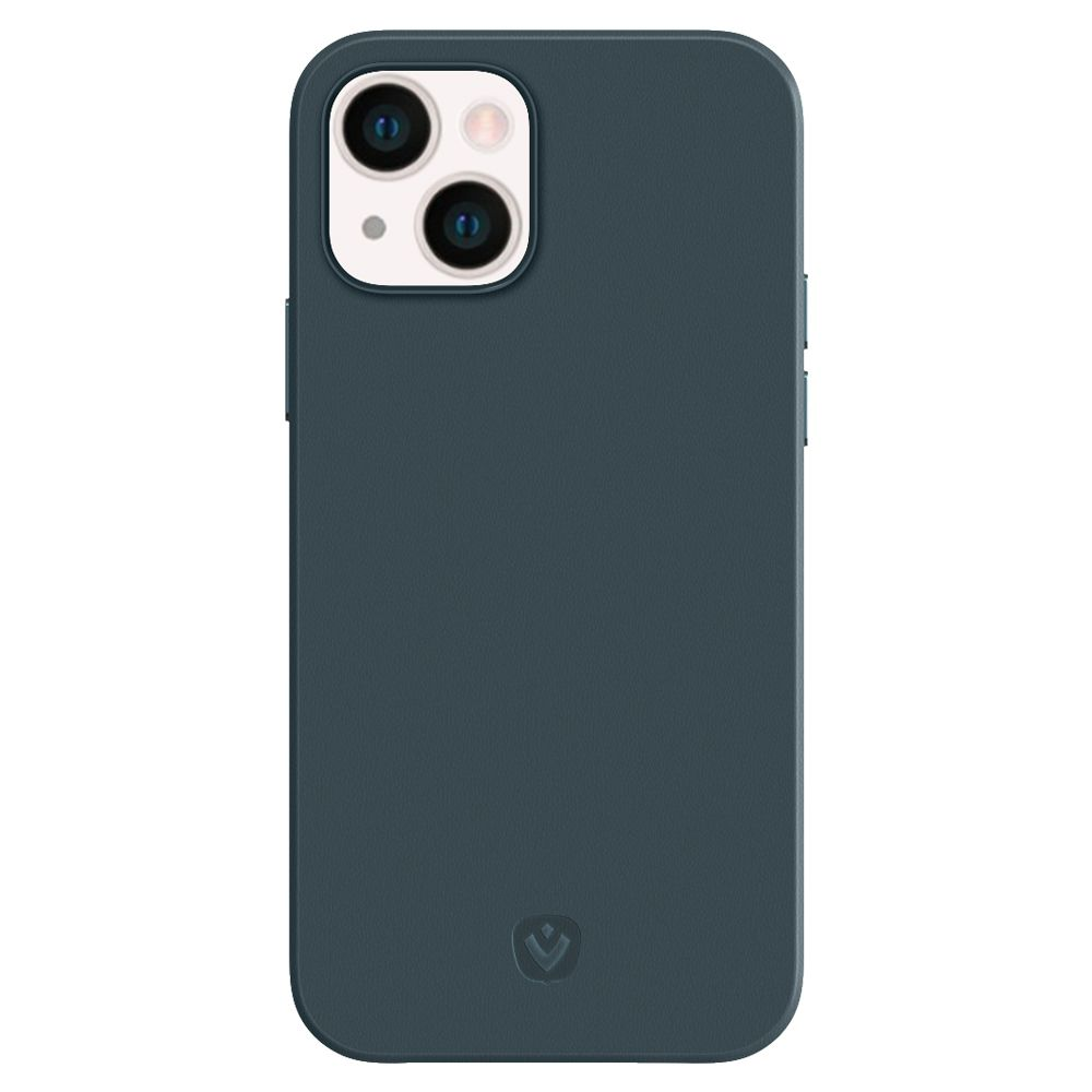 back cover snap luxe leather blue apple iphone 13