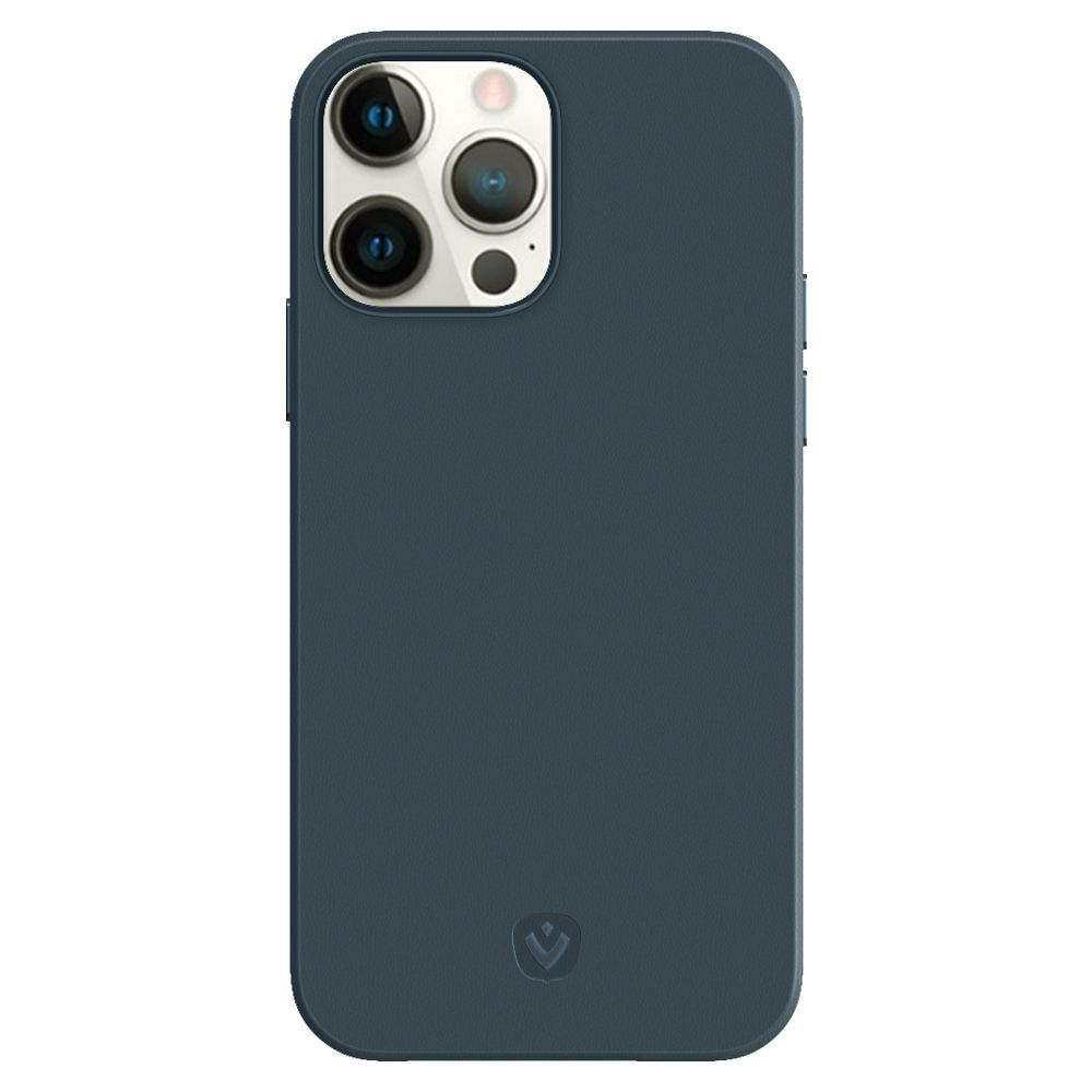 back cover snap luxe leather blue apple iphone 13 pro