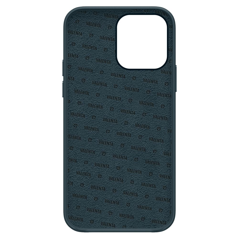 back cover snap luxe leather blue apple iphone 13 pro max
