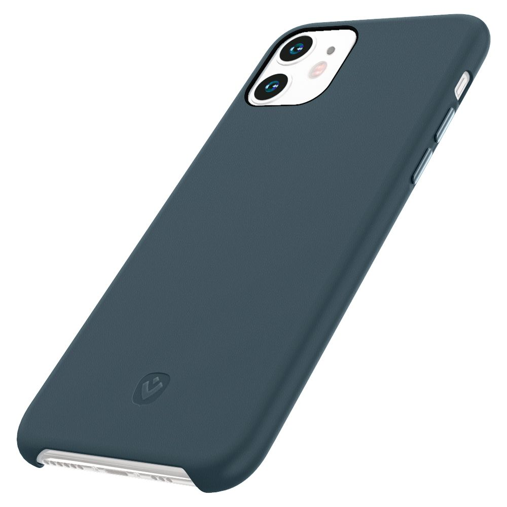 back cover snap luxe leather blue iphone 11