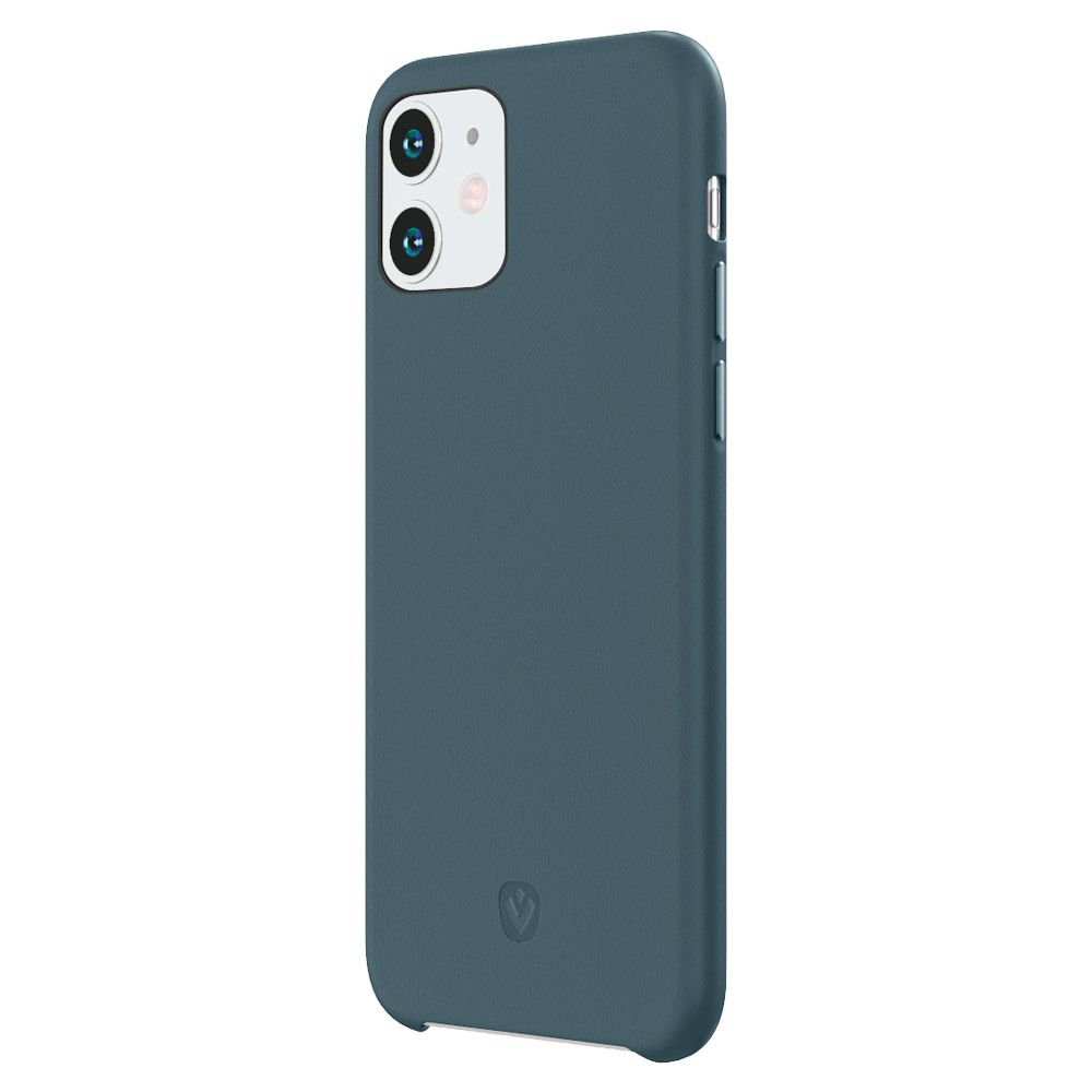 back cover snap luxe leer blauw apple iphone 11