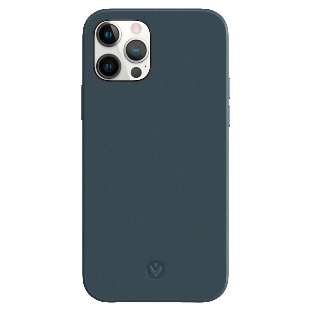 back cover snap luxe leather blue iphone 12 12 pro