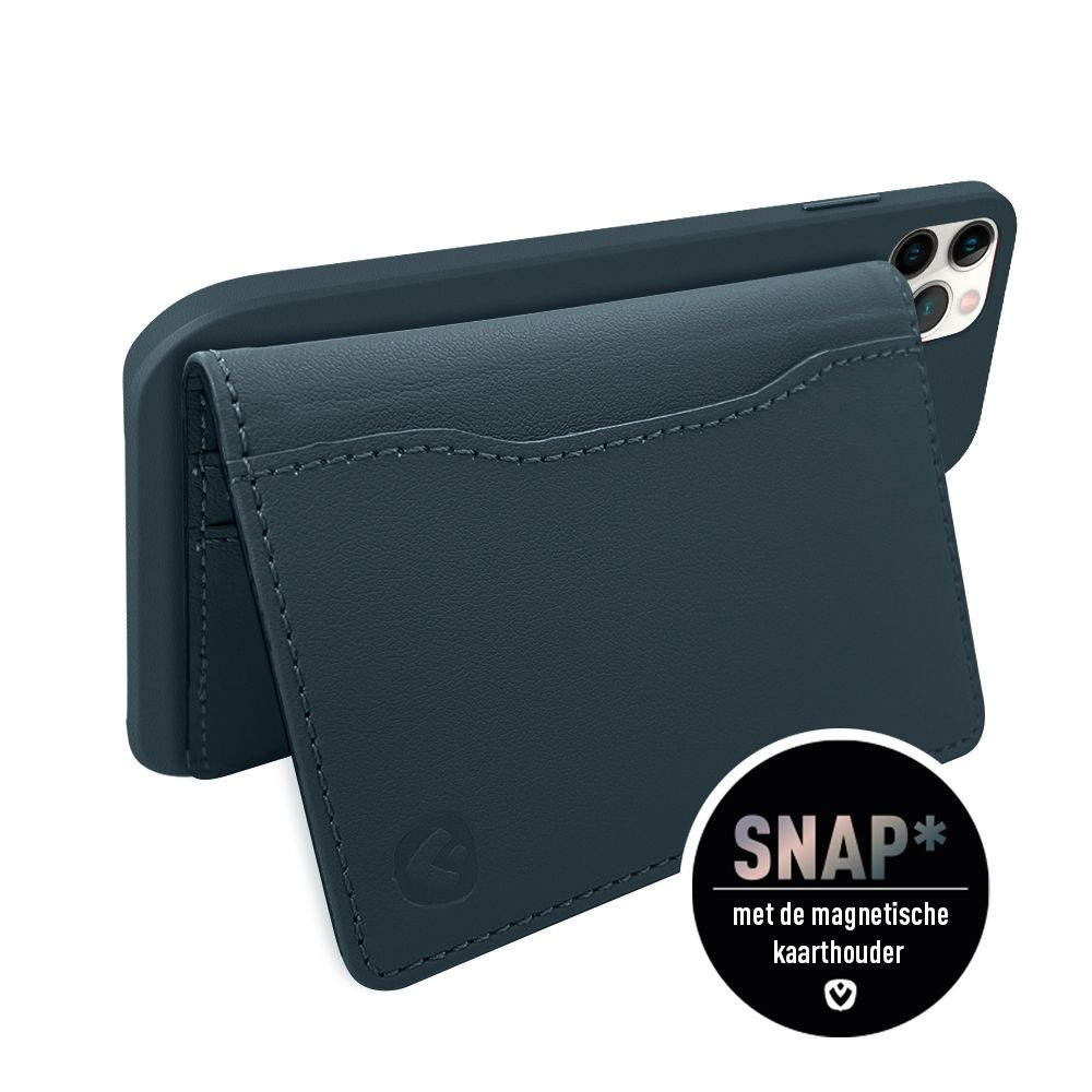back cover snap luxe leer blauw apple iphone 12 12 pro