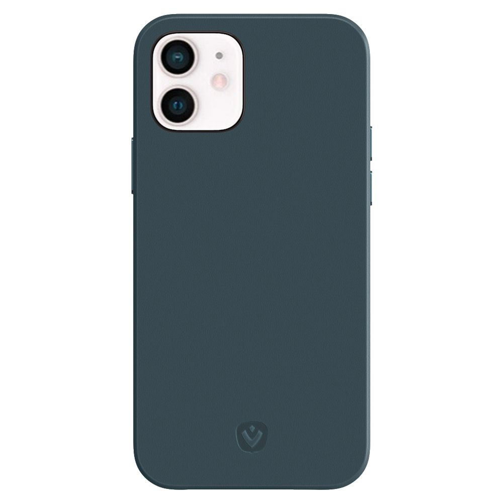 back cover snap luxe leather blue iphone 12 mini