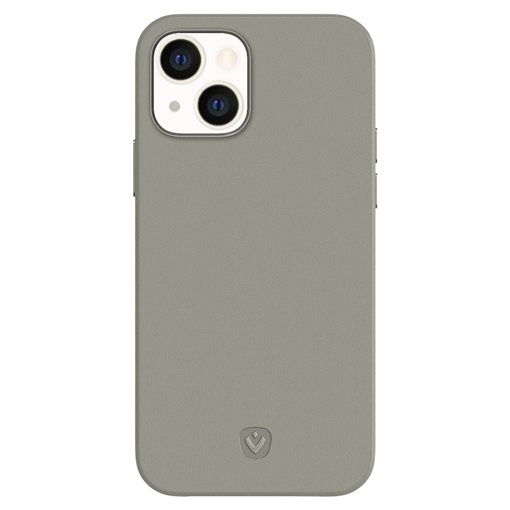 back cover snap luxe leather grey apple iphone 13