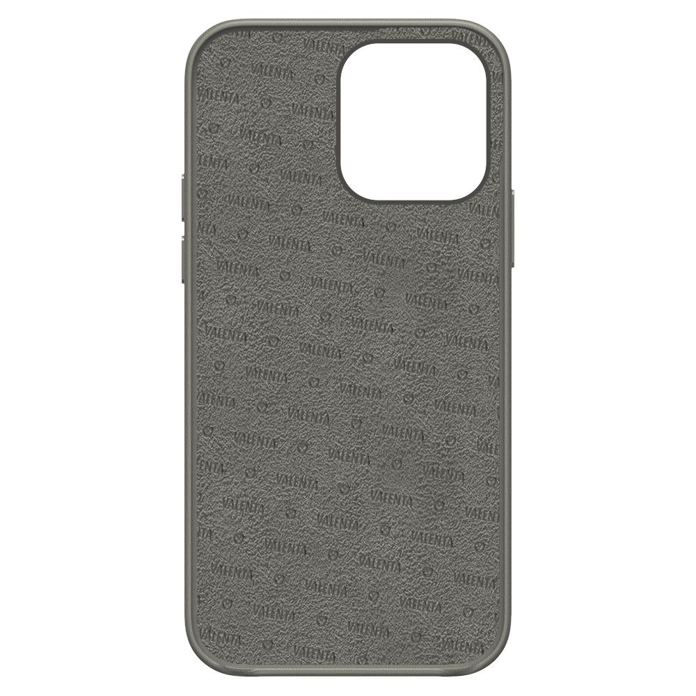 back cover snap luxe leather grey apple iphone 13 pro max