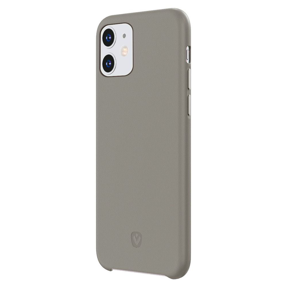 back cover snap luxe leather grey iphone 11