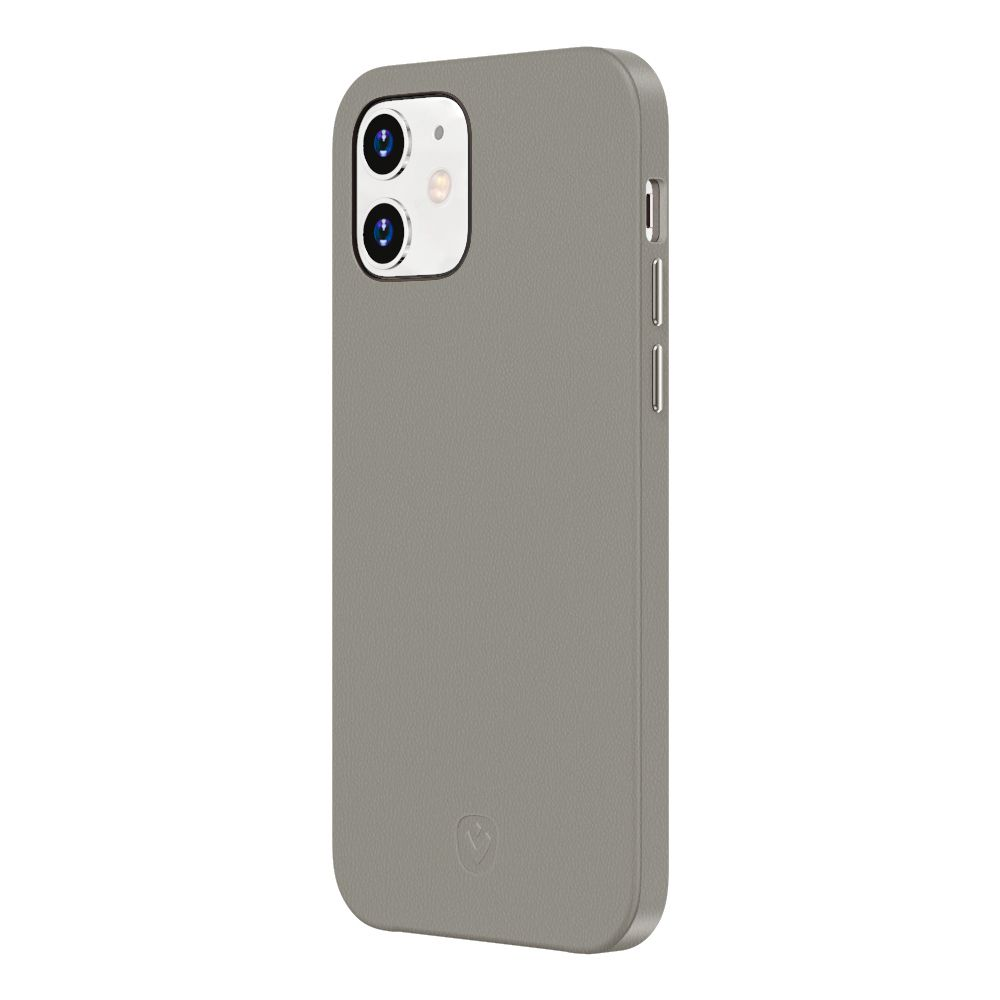 back cover snap luxe leather grey iphone 12 mini