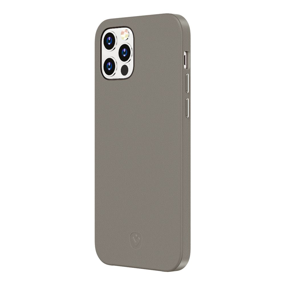 back cover snap luxe leather grey iphone 12 pro max