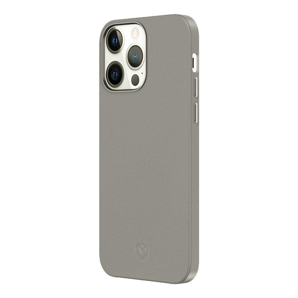 back cover snap luxe leder grau fr apple iphone 13 pro max