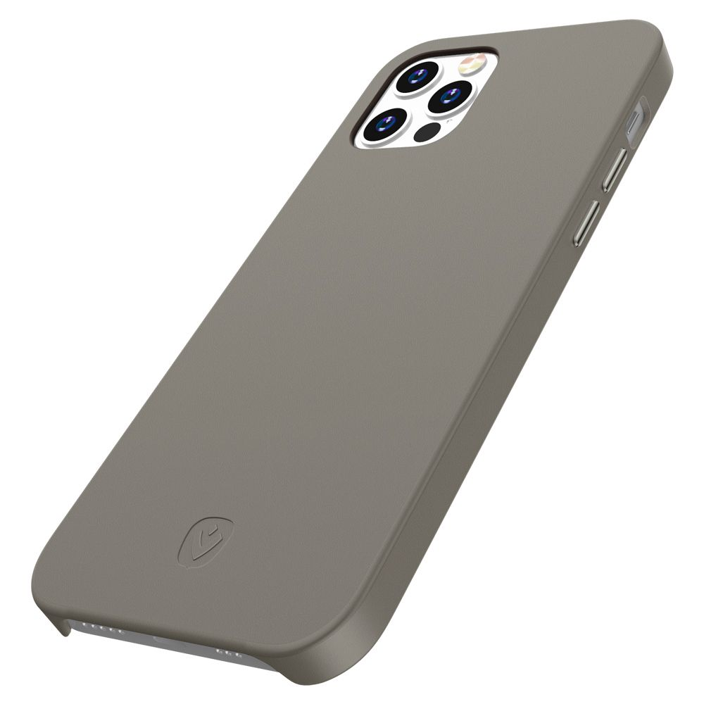 back cover snap luxe leder grau fr iphone 12 pro max