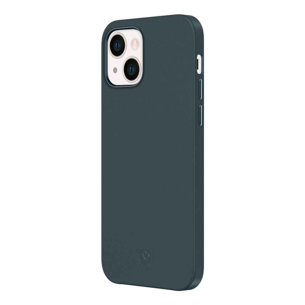back cover snap luxe leer blauw apple iphone 13 mini