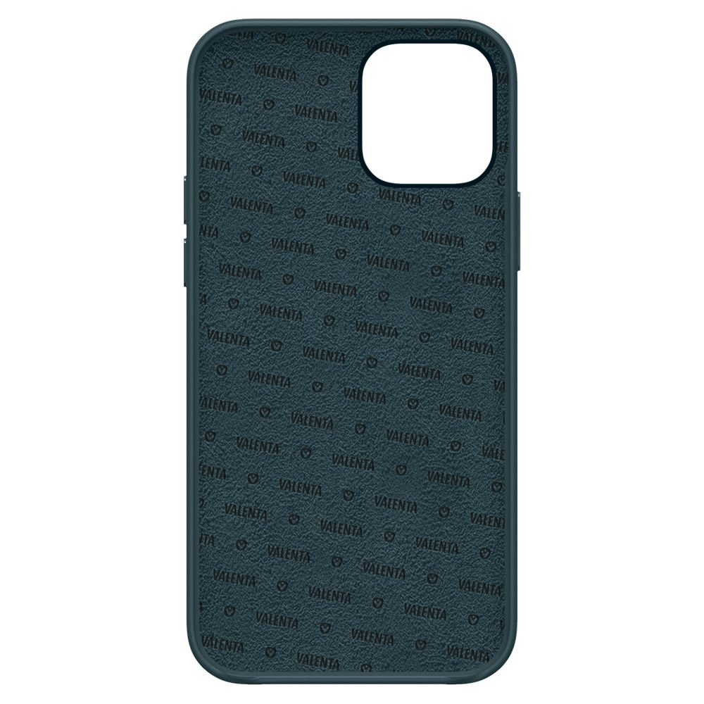 back cover snap luxe leer blauw apple iphone 13