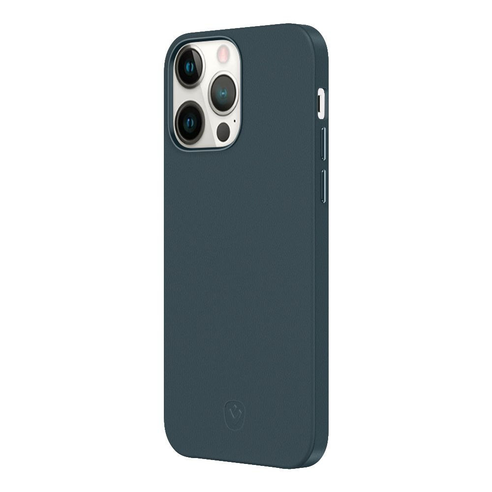 back cover snap luxe leer blauw apple iphone 13 pro
