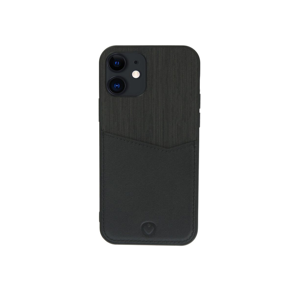 back cover zwart card slot iphone 12 mini