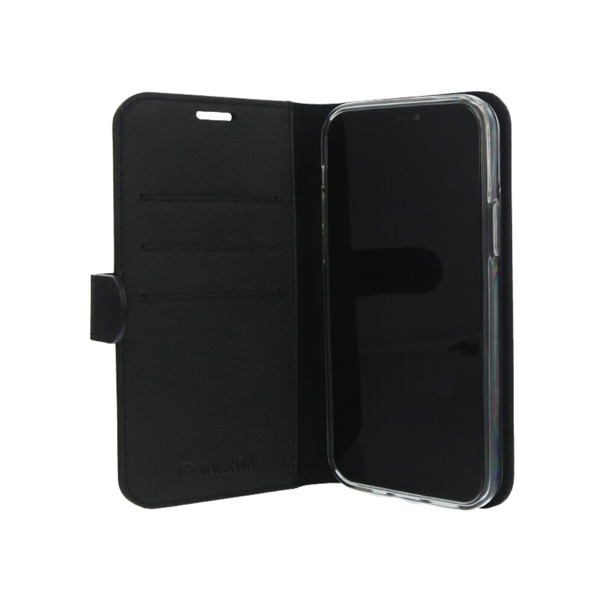 book case classic schwarz fur das iphone 12 pro max