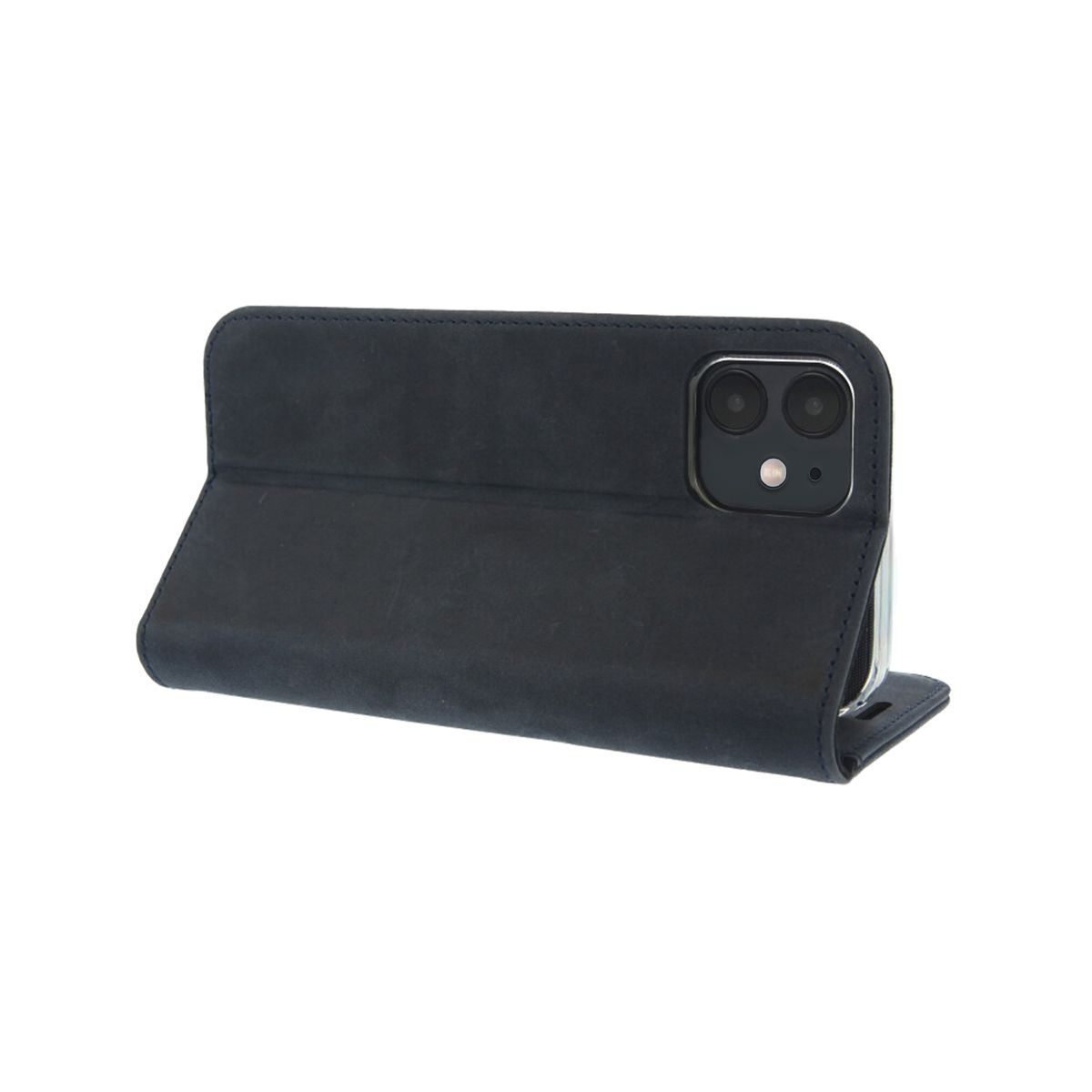 book case classic vintage blauw iphone 12 mini