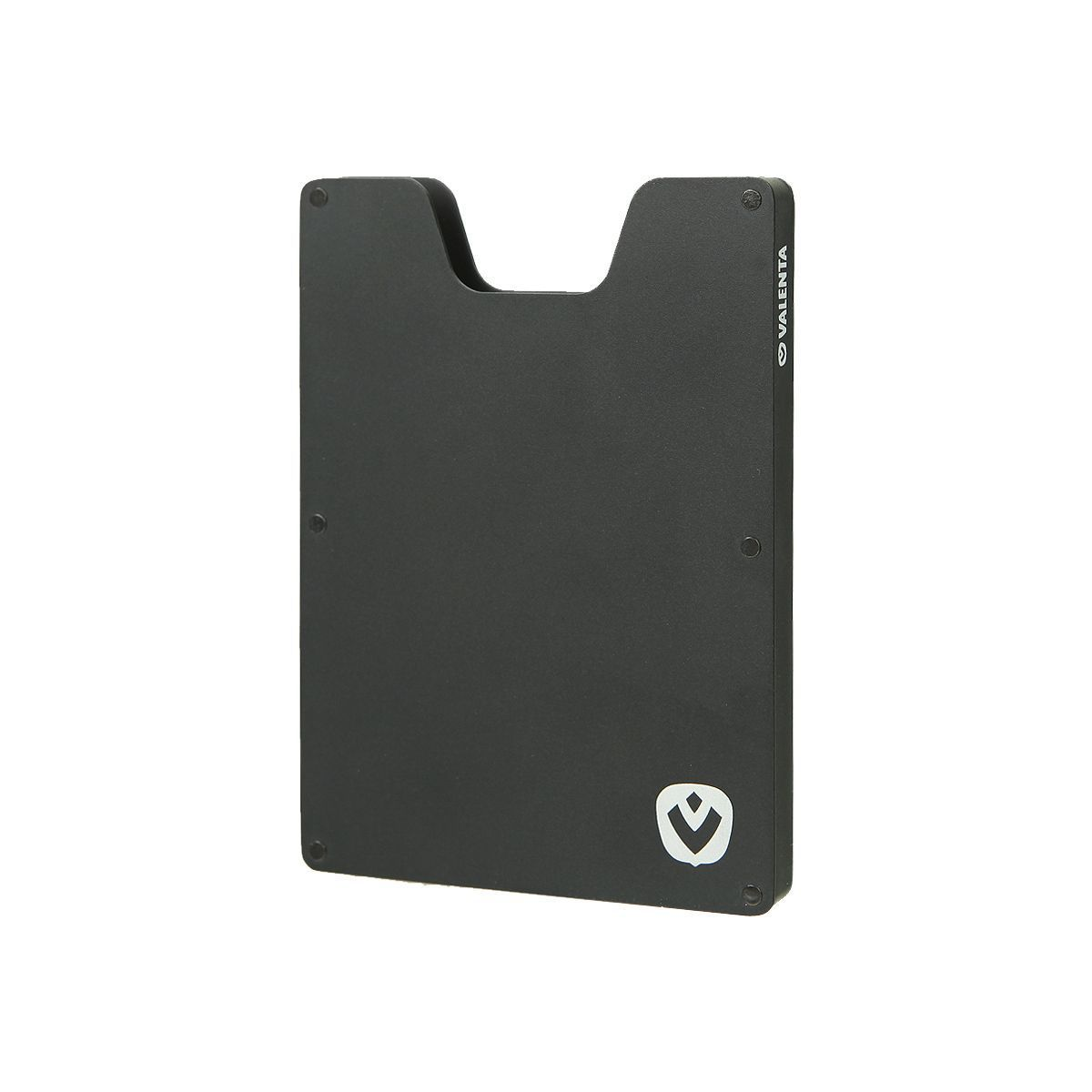 card case aluminium black