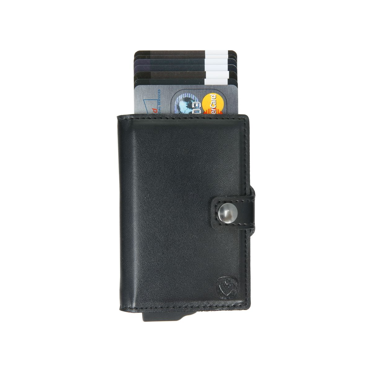 card case essential wallet black pu