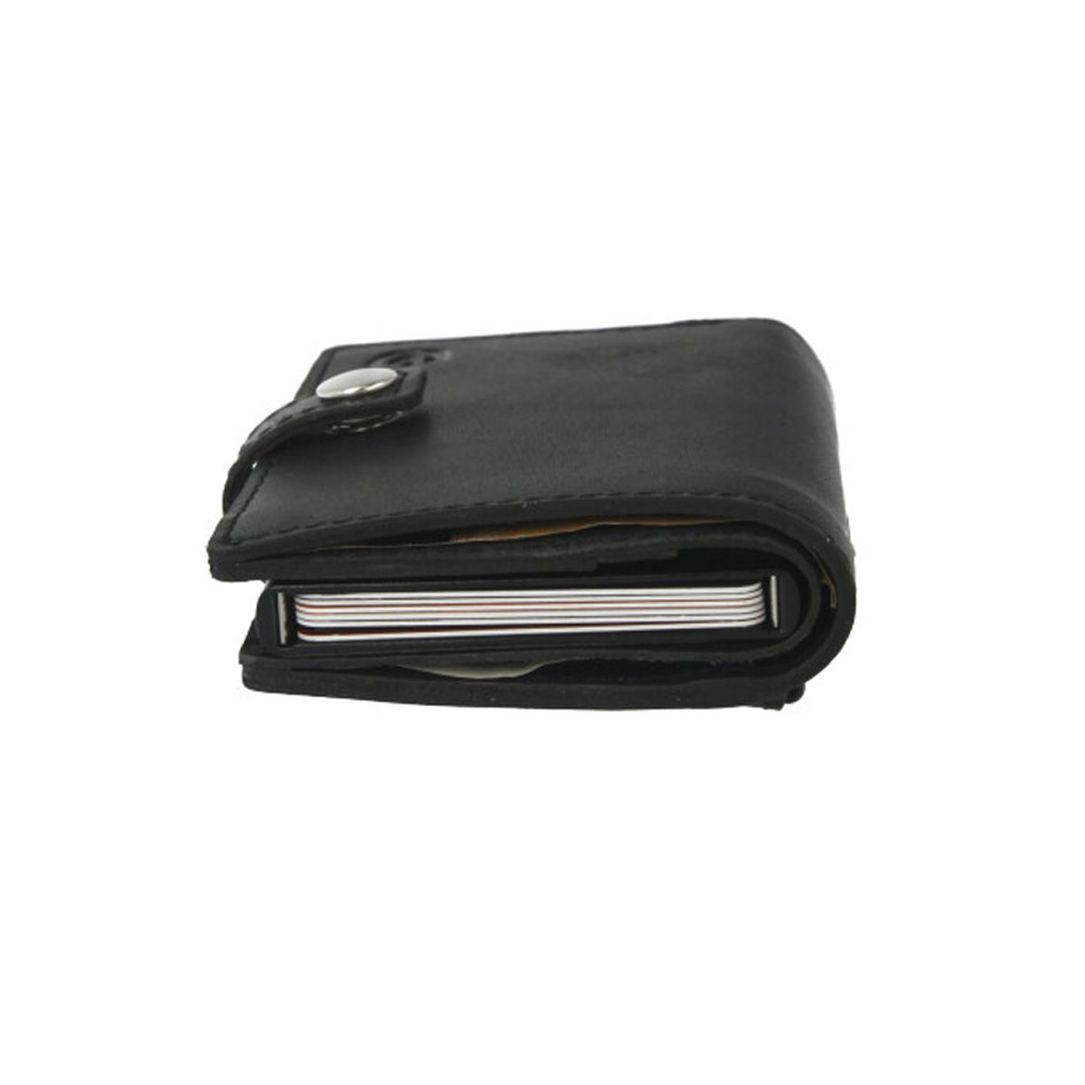 card case plus wallet with coin pocket black
