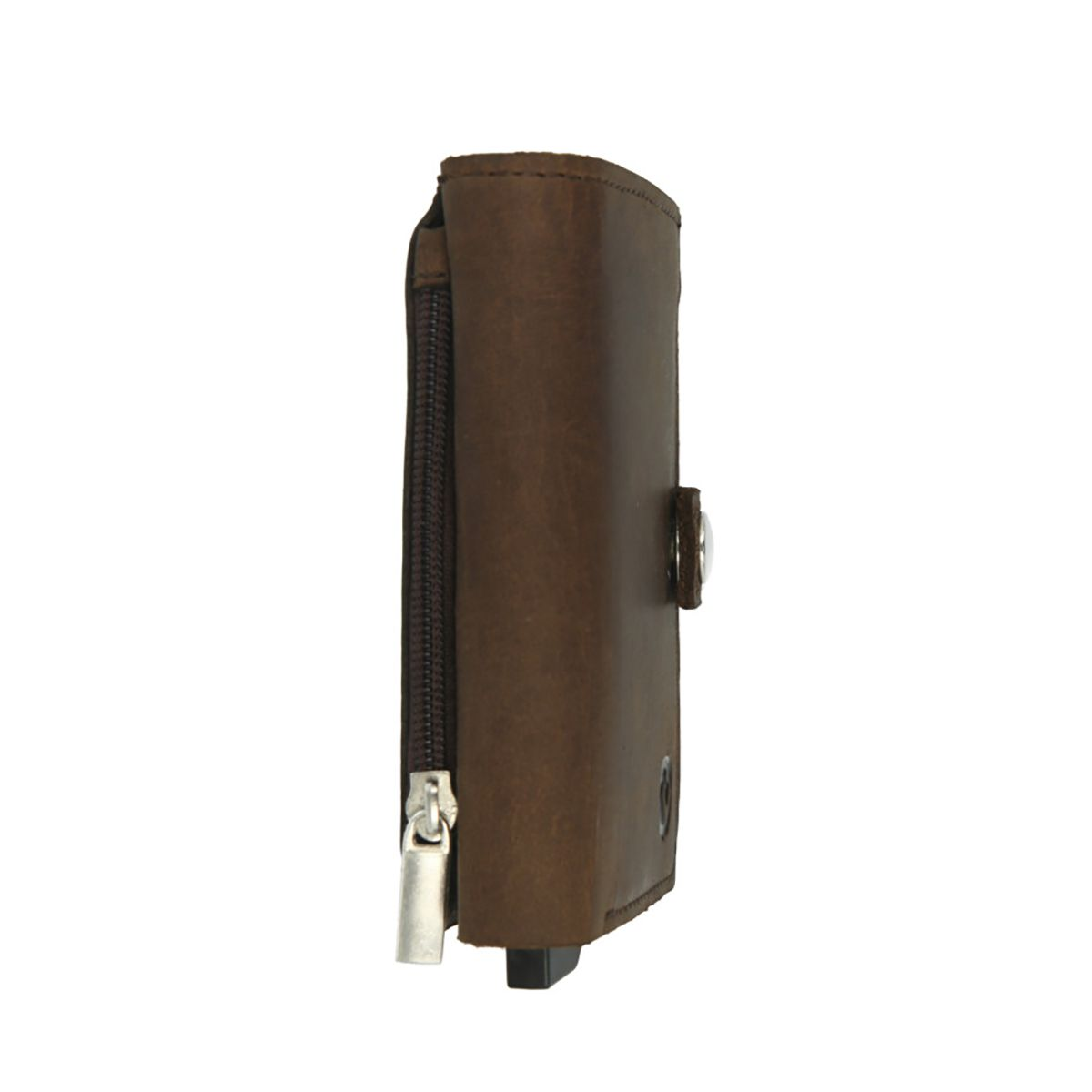 card case plus wallet with coin pocket vintage brown