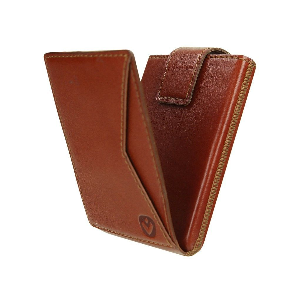 card case pocket premium cognac