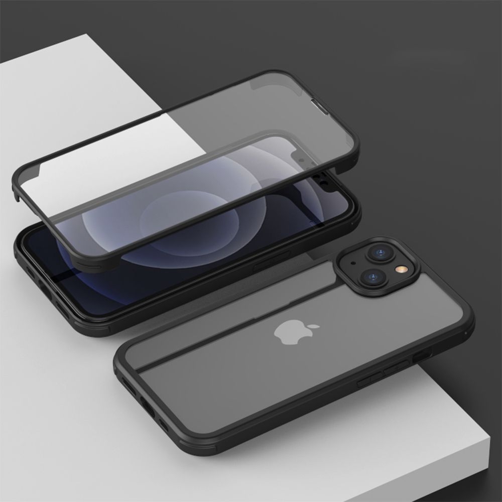 full cover tempered glass bumper black apple iphone 13