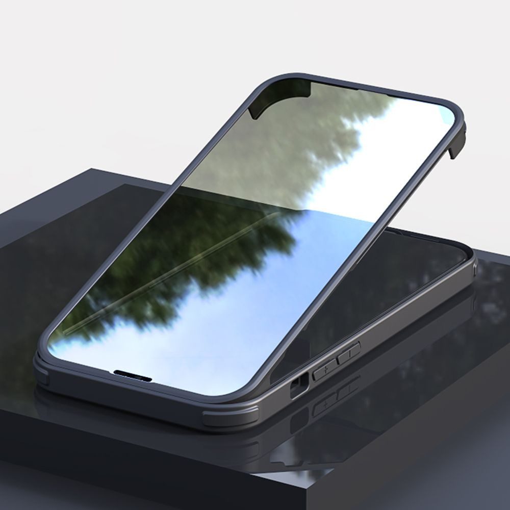 full cover tempered glass bumper black apple iphone 13 pro