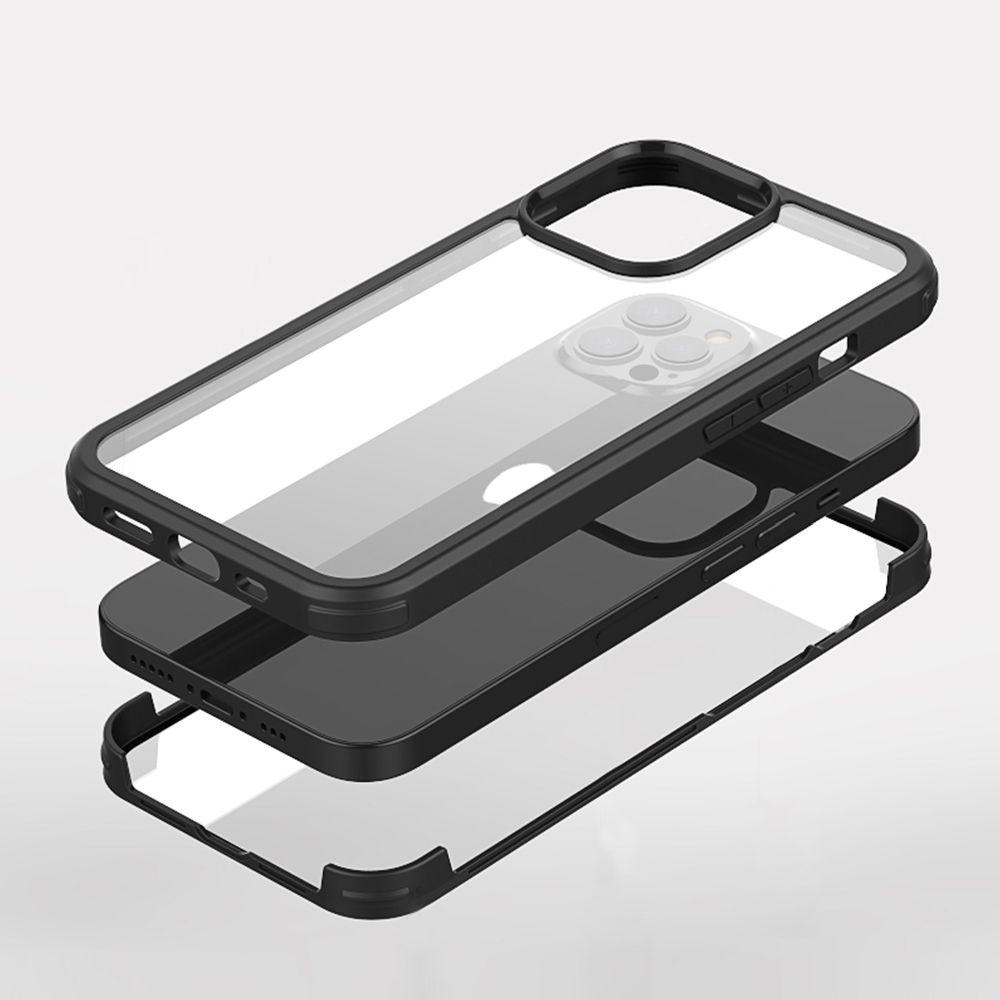 full cover tempered glass bumper black apple iphone 13 pro max