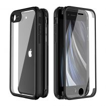 Full Cover Tempered Glass Bumper Black iPhone SE 2020/8/7