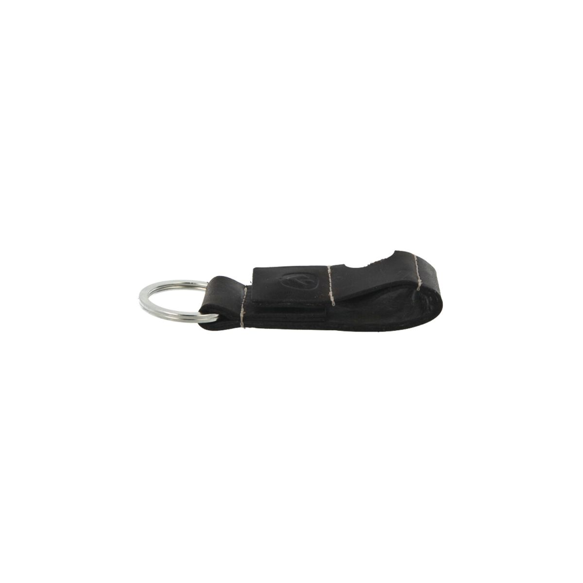 key chain leather black coin space