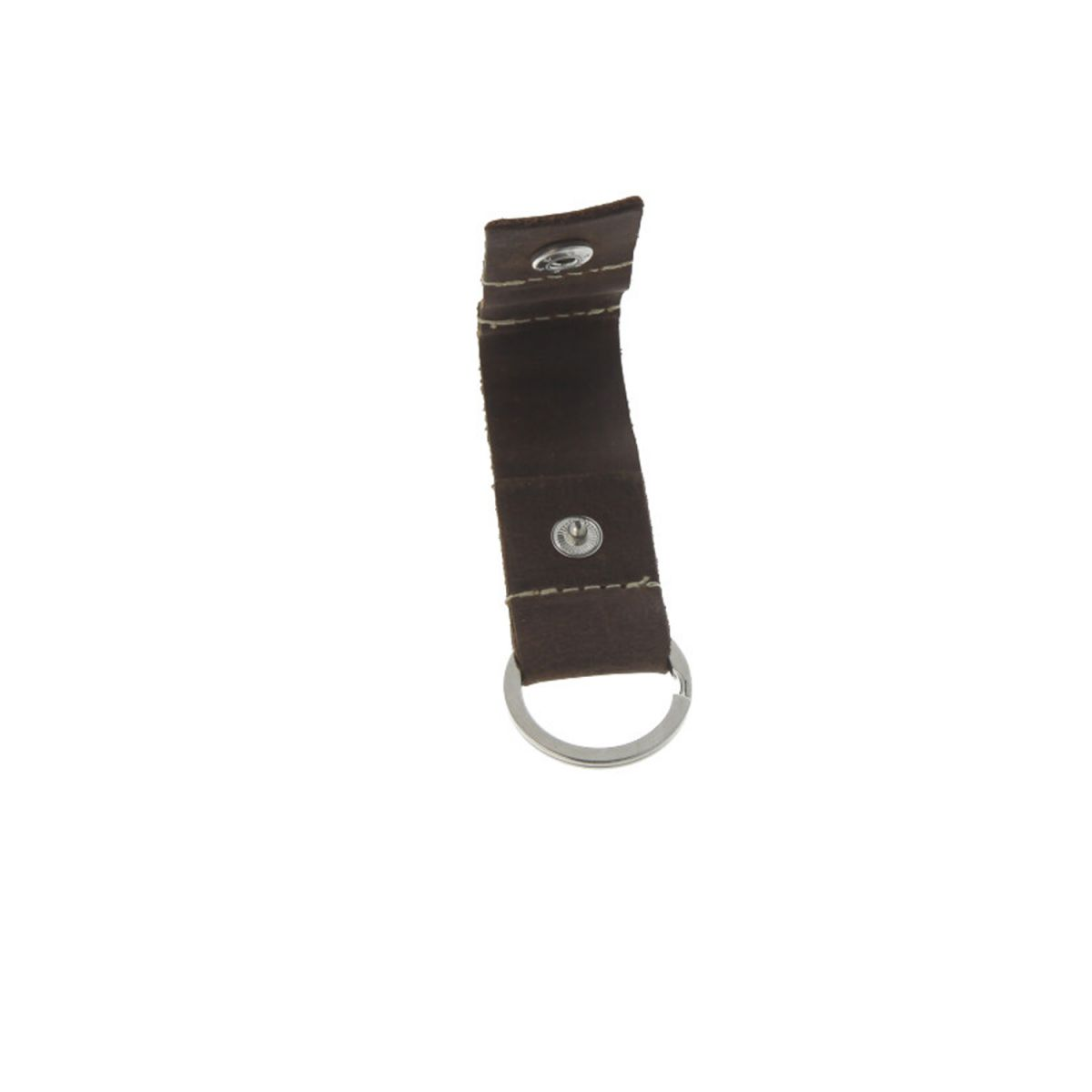 key chain leather brown coin space