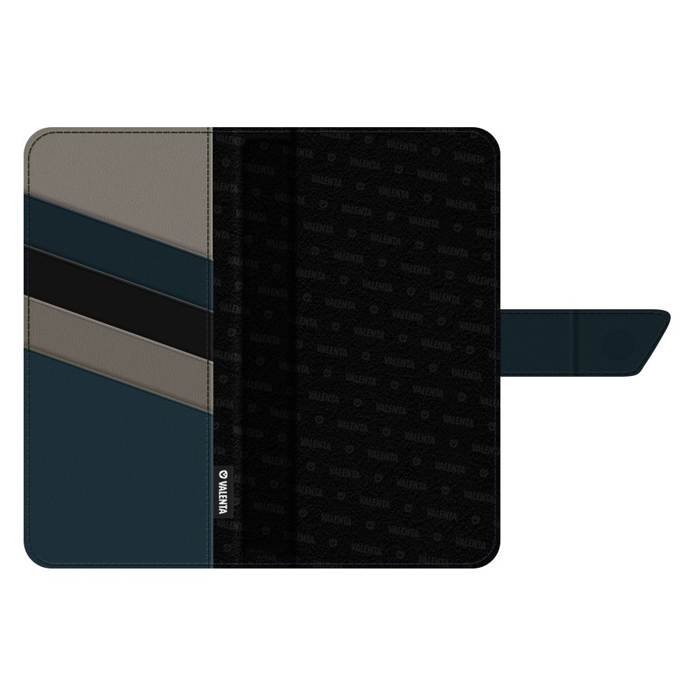 magnetic book cover snap leather universal medium black
