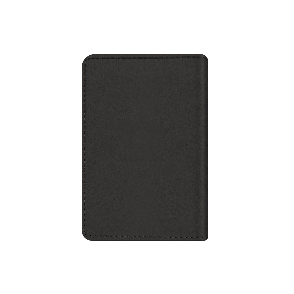 magnetic card wallet snap leather black
