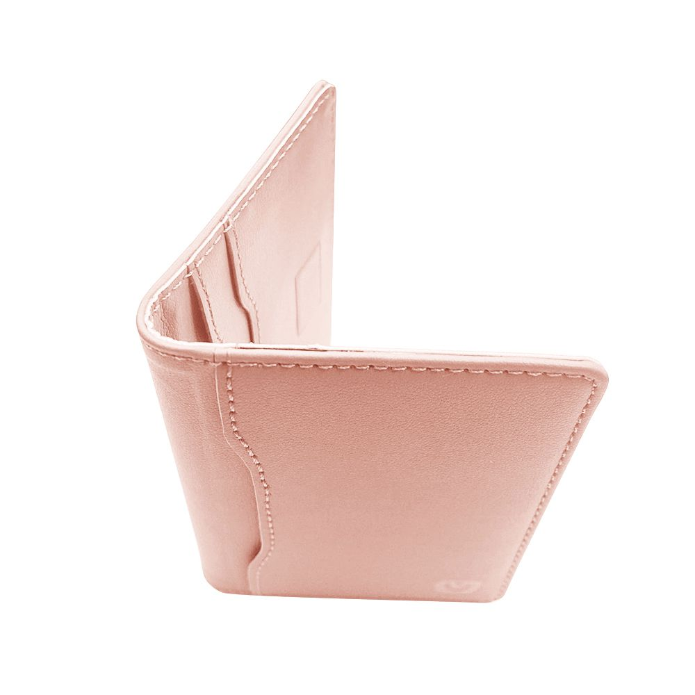magnetic card wallet snap pink