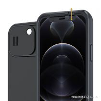 Valenta x Spy-Fy Privacy Cover Black iPhone 12 with Camera Covers Front & Rear